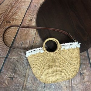 Sam Edelman Basket Purse Wicker Spring Shoulder